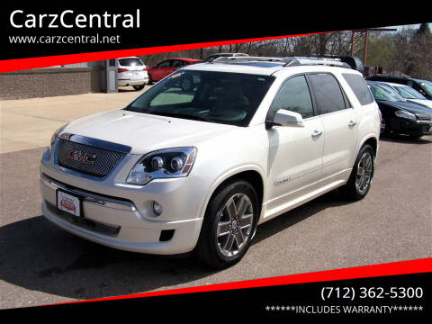 2011 GMC Acadia for sale at CarzCentral in Estherville IA