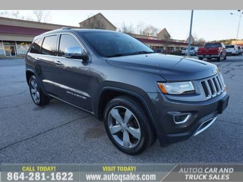 2014 Jeep Grand Cherokee for sale at Auto Q Car and Truck Sales in Mauldin SC