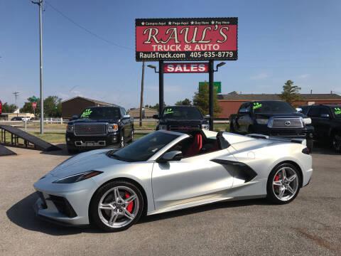2021 Chevrolet Corvette for sale at RAUL'S TRUCK & AUTO SALES, INC in Oklahoma City OK