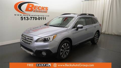 2015 Subaru Outback for sale at Becks Auto Group in Mason OH