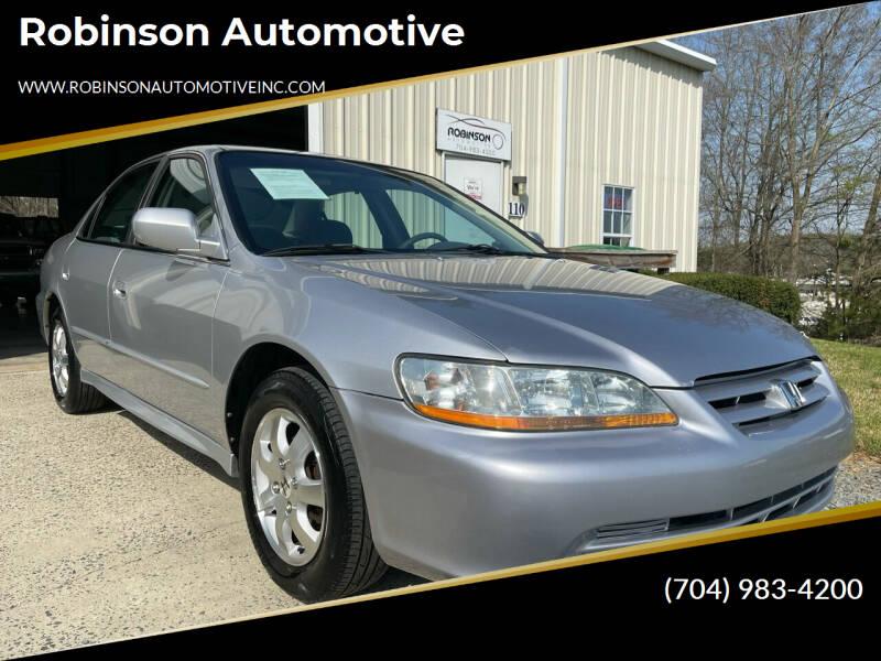 2001 Honda Accord for sale at Robinson Automotive in Albemarle NC