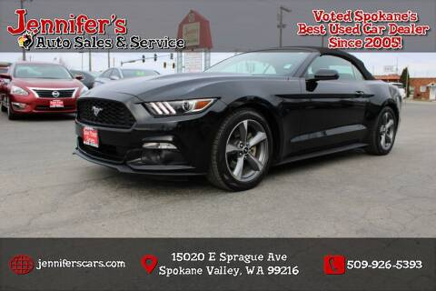 2015 Ford Mustang for sale at Jennifer's Auto Sales in Spokane Valley WA