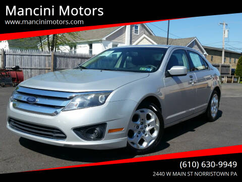 2010 Ford Fusion for sale at Mancini Motors in Norristown PA
