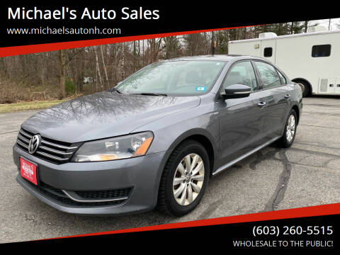 2015 Volkswagen Passat for sale at Michael's Auto Sales in Derry NH
