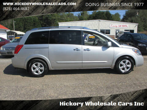 2007 Nissan Quest for sale at Hickory Wholesale Cars Inc in Newton NC