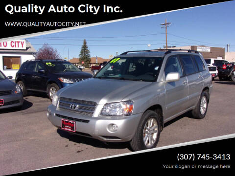 2007 Toyota Highlander Hybrid for sale at Quality Auto City Inc. in Laramie WY