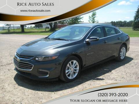2018 Chevrolet Malibu for sale at Rice Auto Sales in Rice MN