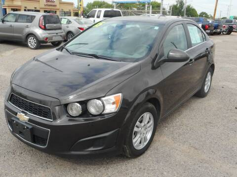 2015 Chevrolet Sonic for sale at AUGE'S SALES AND SERVICE in Belen NM