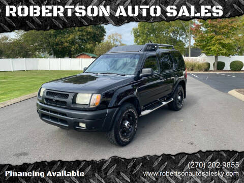 2001 Nissan Xterra for sale at ROBERTSON AUTO SALES in Bowling Green KY