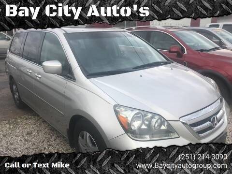 2007 Honda Odyssey for sale at Bay City Auto's in Mobile AL