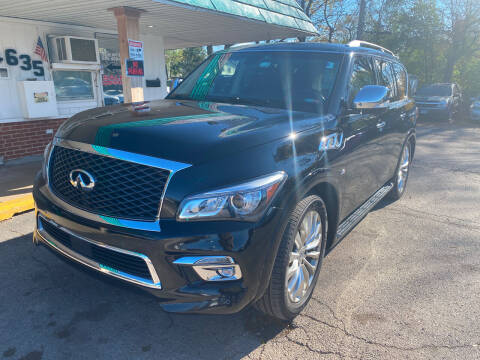 2016 Infiniti QX80 for sale at New Wheels in Glendale Heights IL