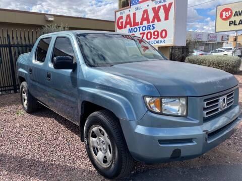 2007 Honda Ridgeline for sale at GALAXY MOTORS in Tucson AZ