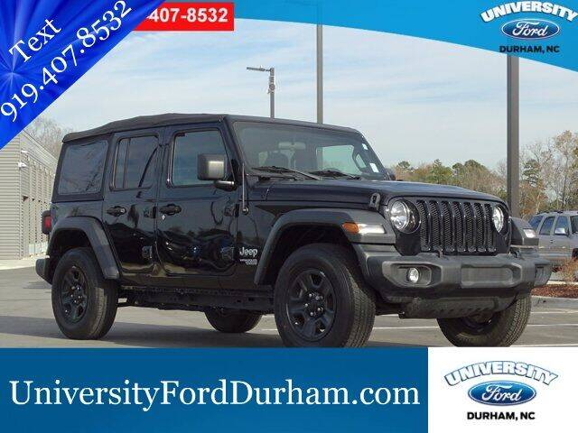 Used Jeep Wrangler For Sale In Raleigh Nc Carsforsale Com