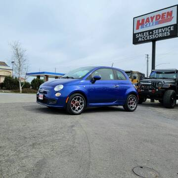 2012 FIAT 500 for sale at Hayden Cars in Coeur D Alene ID