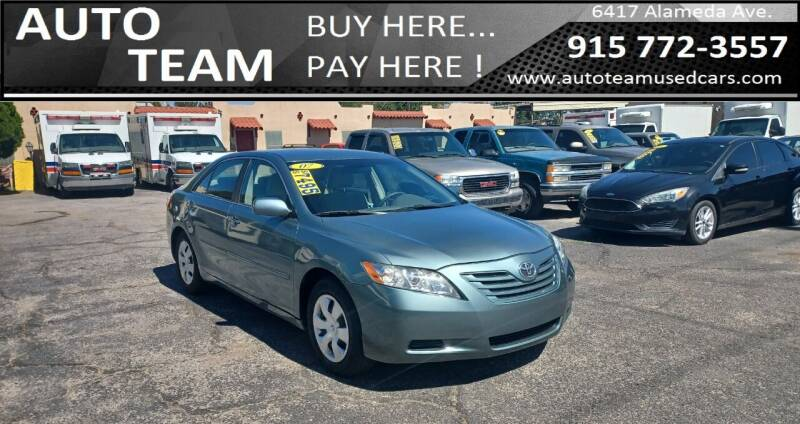 2007 Toyota Camry for sale at AUTO TEAM in El Paso TX