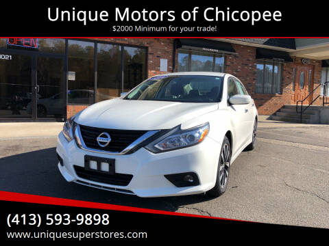 2018 Nissan Altima for sale at Unique Motors of Chicopee in Chicopee MA