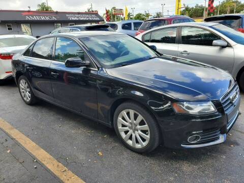 2011 Audi A4 for sale at America Auto Wholesale Inc in Miami FL