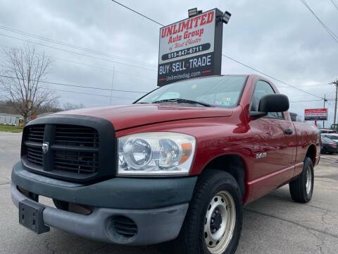 2008 Dodge Ram Pickup 1500 for sale at Unlimited Auto Group in West Chester OH