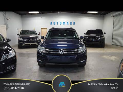 2016 Volkswagen Tiguan for sale at Automaxx in Tampa FL