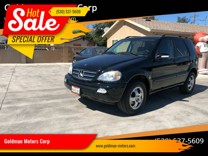 2004 Mercedes-Benz M-Class for sale at Goldman Motors Corp in Stockton CA
