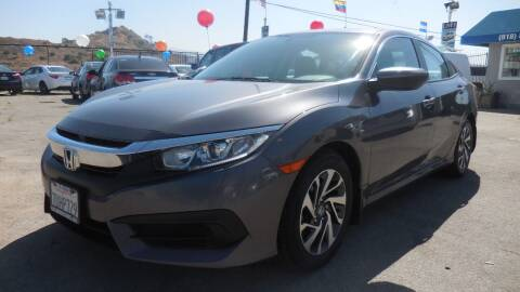 2018 Honda Civic for sale at Luxor Motors Inc in Pacoima CA