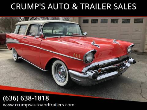 1957 Chevrolet Nomad for sale at CRUMP'S AUTO & TRAILER SALES in Crystal City MO