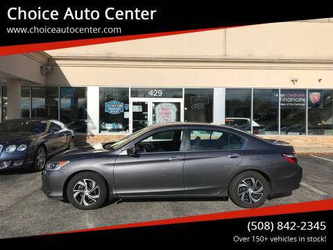 2017 Honda Accord for sale at Choice Auto Center in Shrewsbury MA