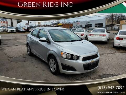 2013 Chevrolet Sonic for sale at Green Ride Inc in Nashville TN