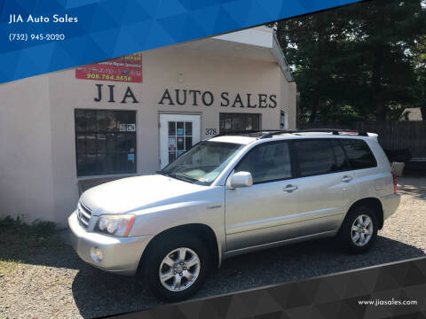 2002 Toyota Highlander for sale at JIA Auto Sales in Port Monmouth NJ