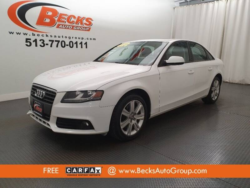 2010 Audi A4 for sale at Becks Auto Group in Mason OH