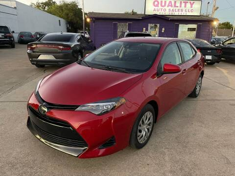 2019 Toyota Corolla for sale at Quality Auto Sales LLC in Garland TX