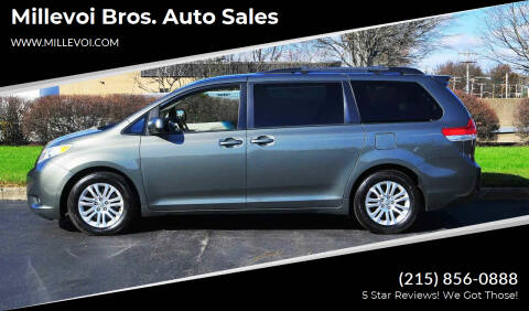 2012 Toyota Sienna for sale at Millevoi Bros. Auto Sales in Philadelphia PA