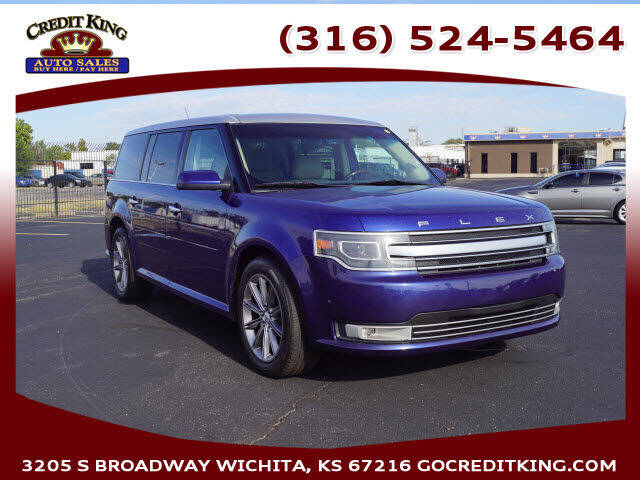 2013 Ford Flex for sale at Credit King Auto Sales in Wichita KS