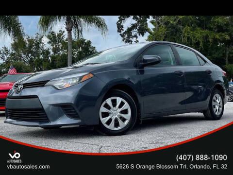 2014 Toyota Corolla for sale at V & B Auto Sales in Orlando FL