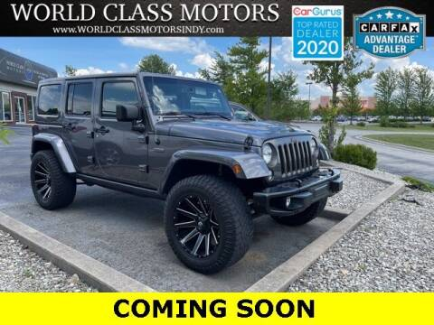 2016 Jeep Wrangler Unlimited for sale at World Class Motors LLC in Noblesville IN