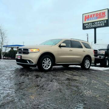 2014 Dodge Durango for sale at Hayden Cars in Coeur D Alene ID