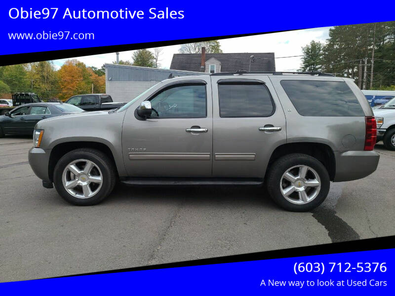 2012 Chevrolet Tahoe for sale at Obie97 Automotive Sales in Londonderry NH