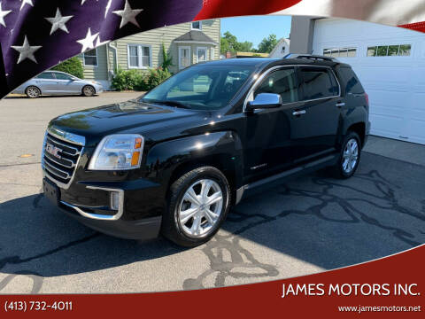 2017 GMC Terrain for sale at James Motors Inc. in East Longmeadow MA