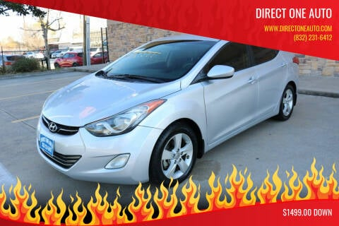 2013 Hyundai Elantra for sale at Direct One Auto in Houston TX