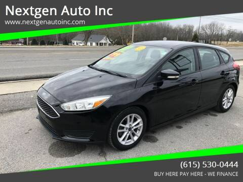 2015 Ford Focus for sale at Nextgen Auto Inc in Smithville TN