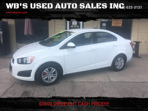 2014 Chevrolet Sonic for sale at WB'S USED AUTO SALES INC in Houston TX