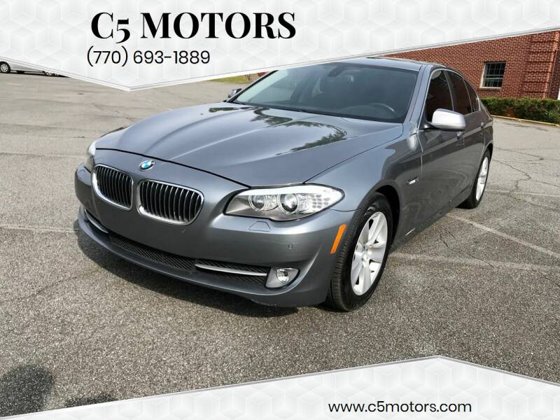2012 BMW 5 Series for sale at C5 Motors in Marietta GA