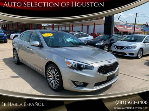 2014 Kia Cadenza for sale at Auto Selection of Houston in Houston TX