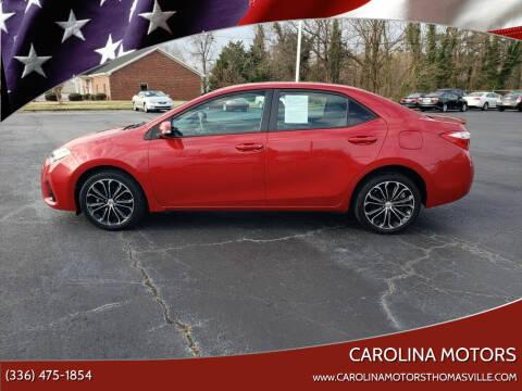 2014 Toyota Corolla for sale at CAROLINA MOTORS in Thomasville NC