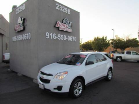 2012 Chevrolet Equinox for sale at LIONS AUTO SALES in Sacramento CA
