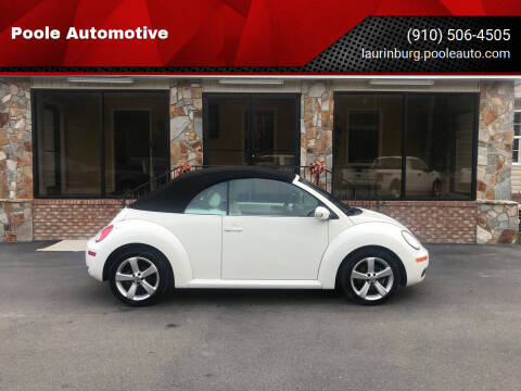 2007 Volkswagen New Beetle Convertible for sale at Poole Automotive in Laurinburg NC
