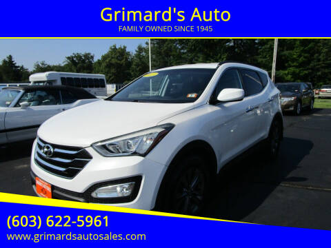 2013 Hyundai Santa Fe Sport for sale at Grimard's Auto in Hooksett NH