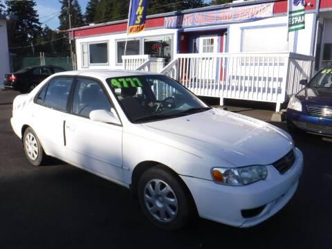 2002 Toyota Corolla for sale at 777 Auto Sales and Service in Tacoma WA