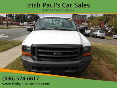 2001 Ford F-250 Super Duty for sale at Irish Paul's Car Sales in Burlington NC