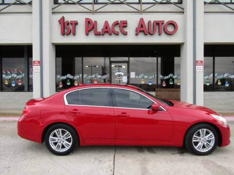 2012 Infiniti G37 Sedan for sale at First Place Auto Ctr Inc in Watauga TX